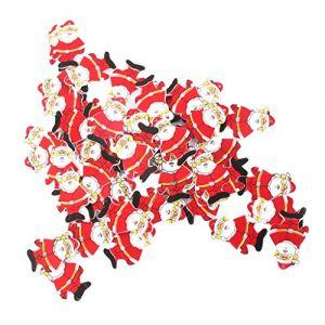 Lot de 50pcs Pendentif Décoration Suspendue Père Noël en Bois pour Sapin de Noël ( Neuf Marketplace )