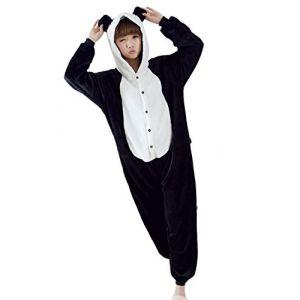Femme Panda Pyjamas Flanelle a Capuche noir&blanc Onesie Cospaly Party,M ( Neuf Marketplace )