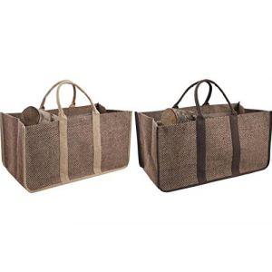 Panier sac à bûches en jute plastifiée ( Neuf Marketplace )
