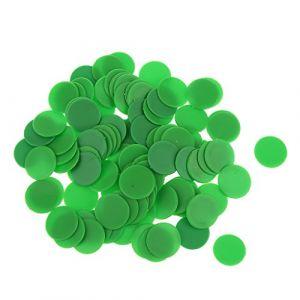 100pcs Jetons de Jeux Opaque Compteurs en Plastique pour Compter ou Marquer - Vert ( Neuf Marketplace )