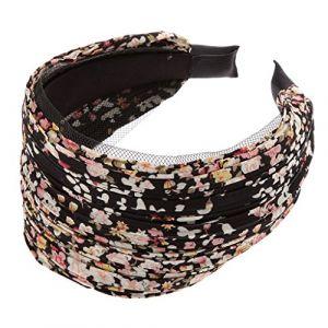 Bandeau Large Serre-tête Accessoire pour Cheveux Plissé Floral Rétro ( Neuf Marketplace )