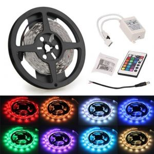 SODIAL (R)3M 5050 SMD 90 LED RGB Club de voiture Camion bande de lumiere + 24 Touches telecommande + Controleur ( Neuf Marketplace )