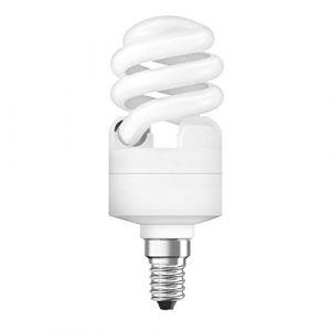 OsramÂ–Ampoule spirale à économie d'énergie, 12W équivalent de 55W, culotE14, durée de vie6000heures, lumière froide ( Neuf )