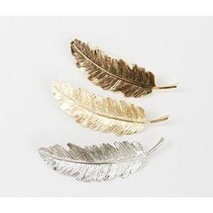 Cuhair (TM) Lot de 3 pièces barrettes en forme de feuille Punk plume Design en Métal pour fille Barrettes à cheveux pince Accessoires ( Neuf Marketplace )