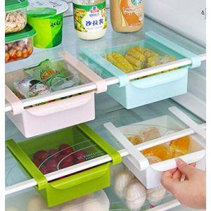 Bluelover Frigo de cuisine en plastique Réfrigérateur Congélateur Holder Support de rangement étagère de cuisine Organisation Blanc ( Neuf Marketplace )