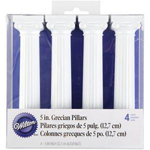 Wilton 0262305 Grecian Colonnes Plastique 5 Pouces 14,83 x 13,36 x 3,78 cm 4 Pièces ( Neuf )
