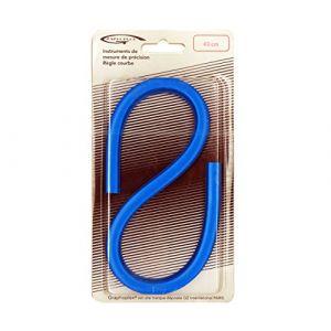Graphoplex Règle courbe flexible 40 cm bleu ( Neuf )