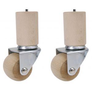 Jeu de 2 cylindres et de 2 cylindres avec 2 roulettes pivotantes