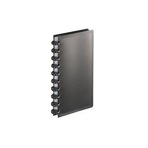 Porte-cartes de visite Viquel PVC 130 x 250 mm noir - 160 cartes