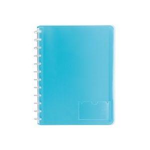 Protège-documents Viquel Géode polypropylène translucide A4 bleu - 30 pochettes