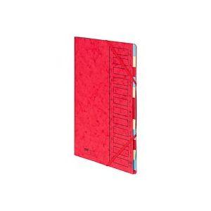 Trieur carte Emey Eco 12 divisions rouge