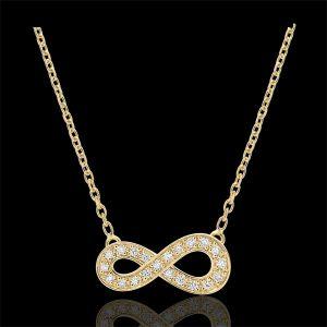 Collier Infini - or jaune et diamants