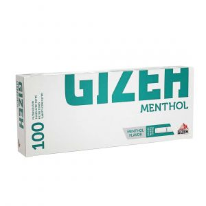 boite de 100 tubes gizeh silver tip menthol avec filtre x 1