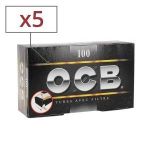 5 boites de 100 tubes à cigarette ocb