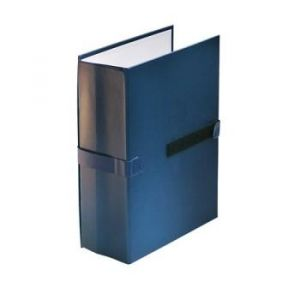 100725677 - Lot de 10 chemises à dos extensible 1 rabat, à sangle et fermeture velcro, coloris bleu foncé
