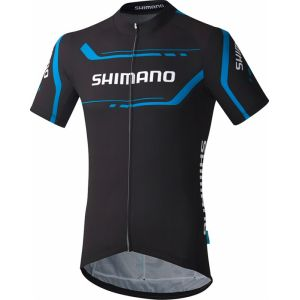 Shimano Print - Maillot homme - noir 3XL Maillots manches courtes sport