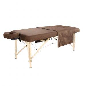 Ensemble drap en flanelle pour table de massage