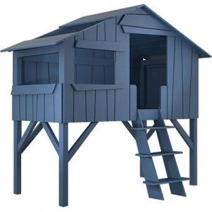 Lit cabane enfant 90 x 190 cm finition laquée (26 coloris)