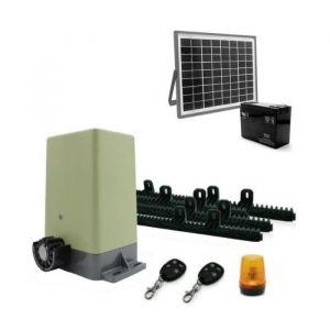 AVIDSEN Kit de motorisation pour portail coulissant 4 m/200 kg avec kit solaire 654312 - Kit de motorisation pour portail coulissant de 4 m/200 kg avec alimentation solaire 654312.