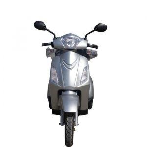 E-ROAD Scooter électrique 3 Roues 1500 W Batterie Gel Argent - Moteur 1500 W - Batterie Gel 60 V - Autonomie : 50 km - Temps de charge : 6 à 8 h - Vitesse max : 25 km/h