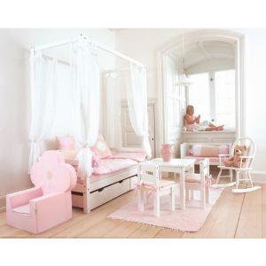 LOOP Lit enfant canapé 90x200cm blanc - 208x98x182cm - Lit canapé enfant 90x200cm LOOP + balqdaquin - 2 tiroirs de rangement - Fabrication européenne.