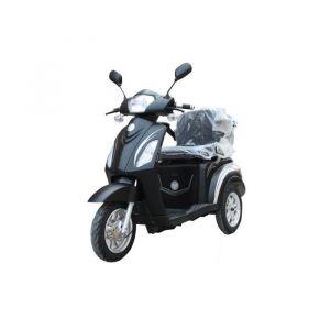 E-ROAD Scooter électrique 3 Roues 1500 W Batterie Gel Noir - Moteur 1500 W - Batterie Gel 60 V - Autonomie : 50 km - Temps de charge : 6 à 8 h - Vitesse max : 25 km/h