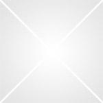 Armoire haute avec panneaux perforés coloris bleu