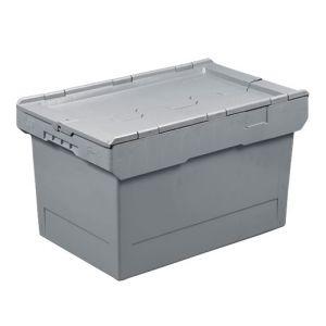Bac plastique avec couvercle 58 litres 600x400