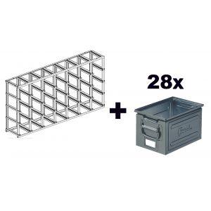 caisse de rangement metallique comparer 28 offres. Black Bedroom Furniture Sets. Home Design Ideas