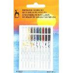 Aiguilles à coudre longues avec fil, 10 coloris assortis