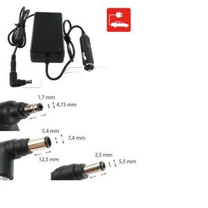 Chargeur pour ACER TRAVELMATE 5740-372G25Mnss, Allume-cigare
