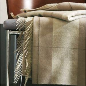 Plaid laine Mérinos Tartan BLANC DES VOSGES - Dimension : plaids-et-couvre-lits