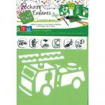 Pochoirs pompiers - Paquet de 6