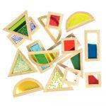 Blocs sensoriels formes géométriques - Boite de 16