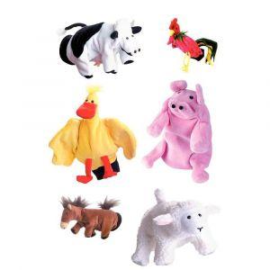 Marionnettes à main 'La ferme' - Lot de 6
