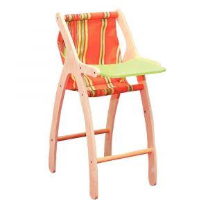 Chaise haute de poupée, en bois