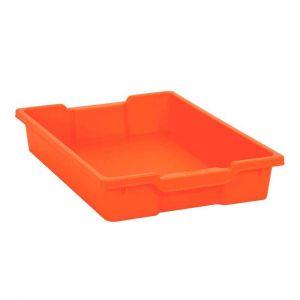 Bac en plastique petit modèle orange