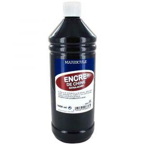 Encre de chine noire - Flacon de 1 litre