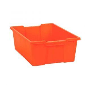 Bac en plastique grand modèle orange