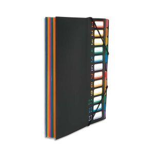 Viquel trieur vertical rainbow 12 compartiments à soufflet en polypro