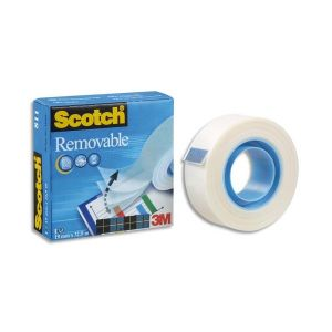 Scotch ruban adhésif invisible repositionnable magic 811 - 19 mm x 33