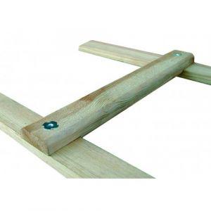 Échelle de couvreur en bois pour toit, 2m OUTIFRANCE