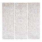 Triptyque en bois blanc 150 x 150 cm ANDAMAN