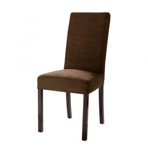 Housse de chaise en microfibre chocolat Margaux