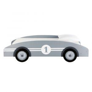 Lit voiture enfant 90 x 190 cm en bois gris Circuit