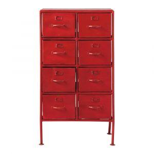 Cabinet de rangement indus en métal rouge L 52 cm Cranberry