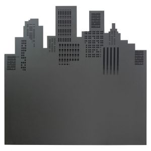 Tête de lit en bois grise L 140 cm Skywalk