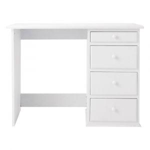 Bureau en bois blanc L 105 cm Pastel