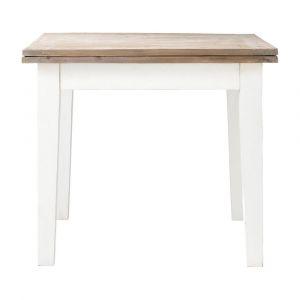 Table de salle à manger à rallonges en bois L 90 cm Provence