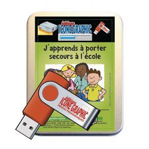 Clé USB Apprendre à porter secours à l'école